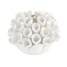 White Ceramic Bud Candle Holder