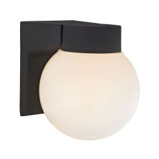 1 Light Outdoor Wall Sconce In Matt Black