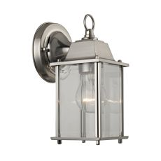 1 Light Outdoor Wall Sconce In Brushed Nickel