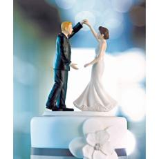 Dancing Wedding Couple Cake Topper
