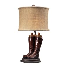 Wood River Table Lamp In Polished Tan