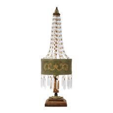 Eiffel Table Lamp In Parisian Moss