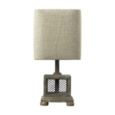 Delambre Mini Table Lamp In Montauk Grey