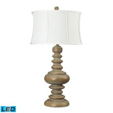 Moniac Bleached Wood Led Table Lamp
