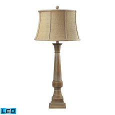 Lyerly Bleached Wood Led Table Lamp