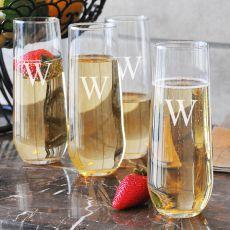 8.5 Oz. Stemless Champagne Flutes (Set Of 4)