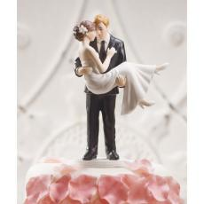 Romantic  Wedding Couple Cake Topper