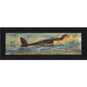 MI Mermaid Atlantic Shore Framed Art