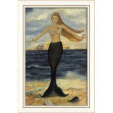 Here At Dawn And Dusk Mermaid Framed Art