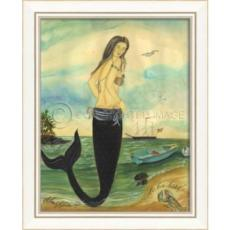 I'Ve Been Spotted Mermaid Framed Art