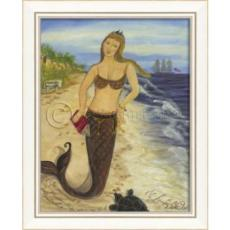 Mermaid From Miacomet Framed Art