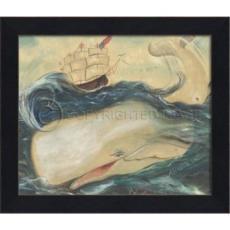 Ahab's Whale II Framed Art
