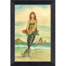 Welcome All to the Island Mermaid Framed Art