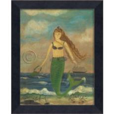 Babe of the Beach Mermaid Framed Art