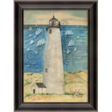 Great Point Lighthouse Framed Art
