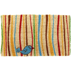 Little Groovy Bird Coconut Fiber Doormat