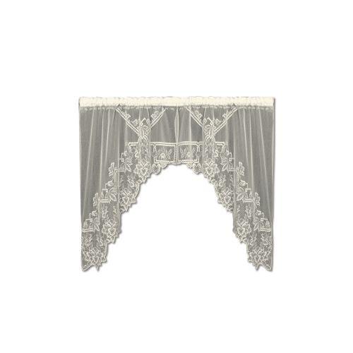 Heirloom 70X45 Sheer Swag Pair, Ecru