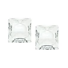Small Dimpled Crystal Cubes - Set Of 2