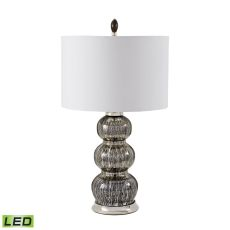 Black Mercury Gourd Led Table Lamp With Pure White Shade