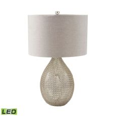Chain Mail Raindrop Led Table Lamp In Silver Mercury