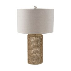 Chain Mail Raindrop Table Lamp In Silver Mercury And Gold