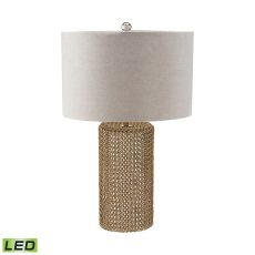 Chain Mail Raindrop Led Table Lamp In Silver Mercury And Gold