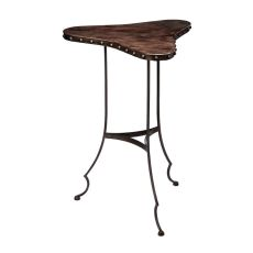 Clover Table In Dark Brown And Oil Rubbed Bronze