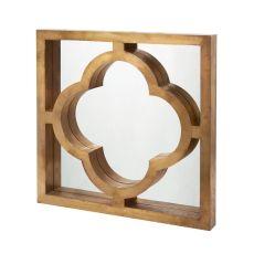Quatrefoil Brass Clad Mirror