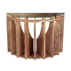 Wooden Sundial Console Table