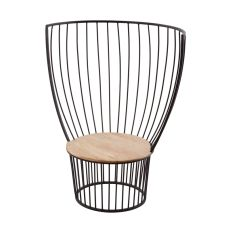 Teak And Metal Carousel Chair