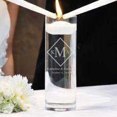 Diamond Monogram Floating Unity Candle