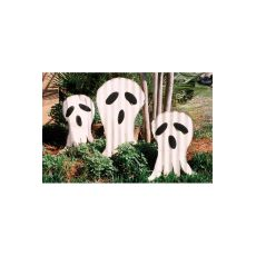 3 Corrugated Ghosts Yard Art, Set of 2