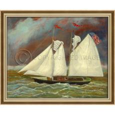The American Dream Framed Ship Art