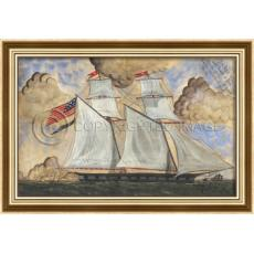 A Good Sailor Will Not Fear Them Framed Ship Art