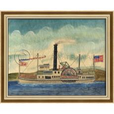 Nantucket Steamship Framed Ship Art