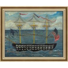 Uss Independence Framed Ship Art