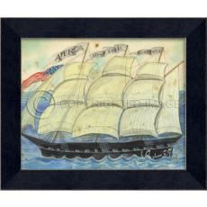America New York Boston Framed Ship Art