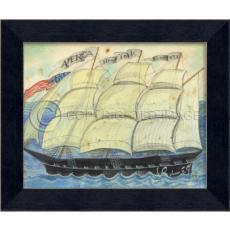 America New York Boston Framed Ship Art
