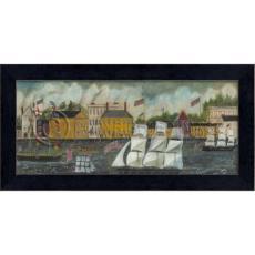 America 1853 Framed Ship Art