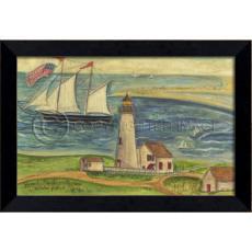 Brant Point Framed Ship Art