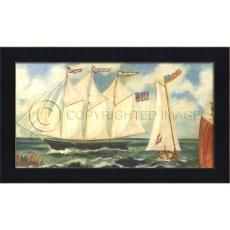 Evening Star Framed Ship Art