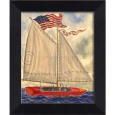 Sailboat Number 53 Framed Art