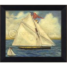 Mi Sailboats Framed Ship Art
