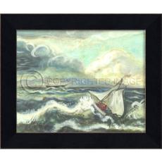 The Thunderstorm Framed Ship Art