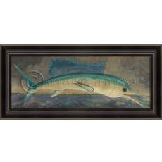 LH Big Fish Story - Swordfish Framed Art