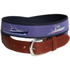 Powerboats Belt Leather Tab