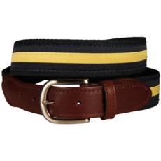 Classic Yellow Stripe on Navy Belt