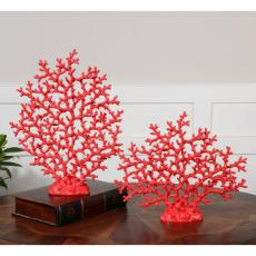 Red Coral Statues S/2
