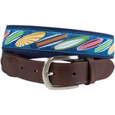 Surfs Up Leather Tab Belt - Latigo Leather Tab