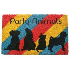 Party Animals Non Slip Coconut Fiber Doormat